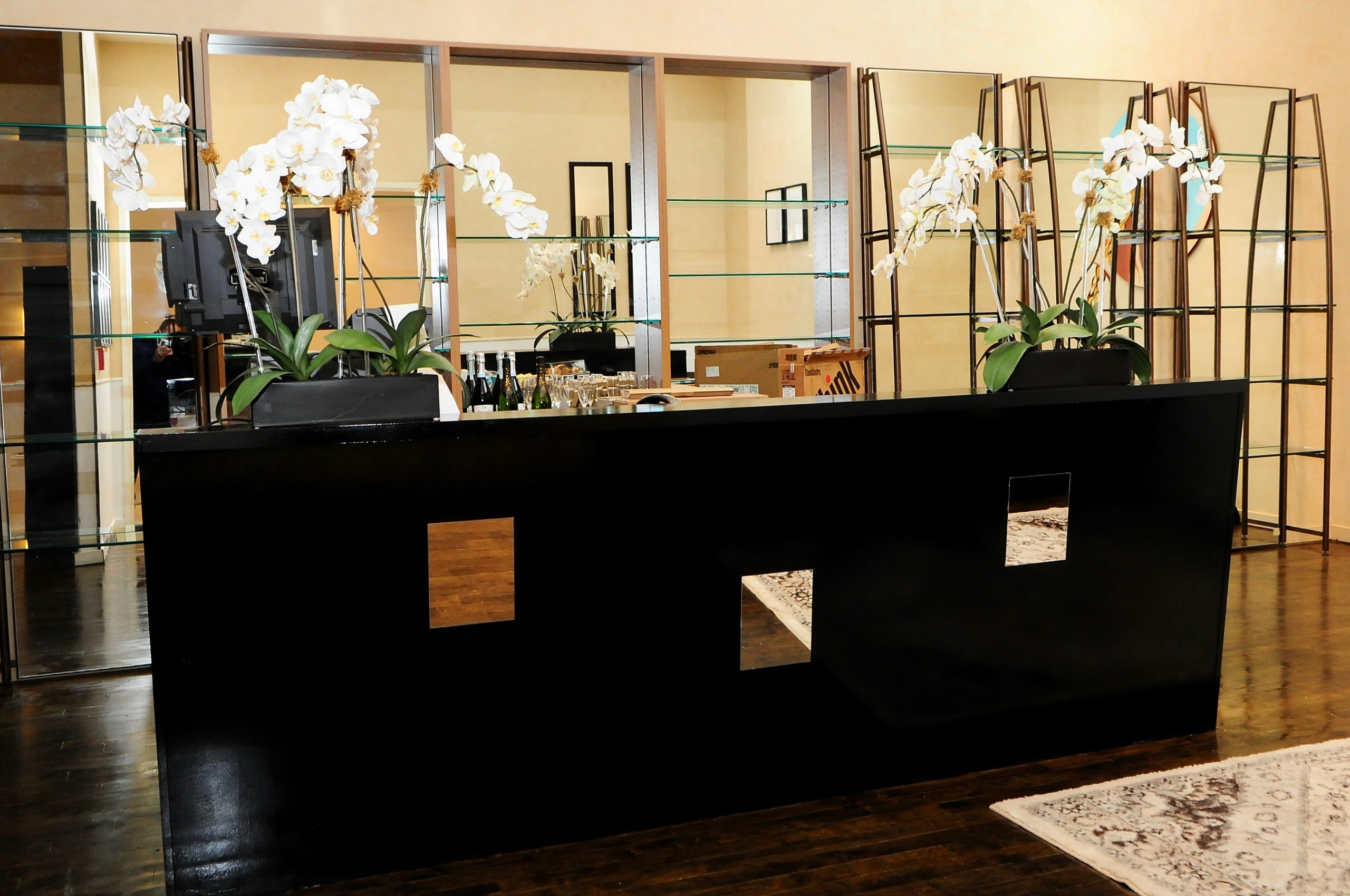 reception desk at the salon project